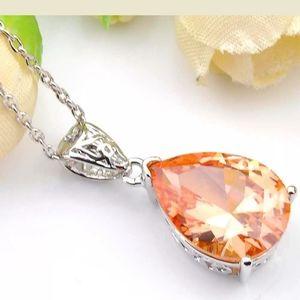 Jewelry - Morganite Pendant & Silver Necklace